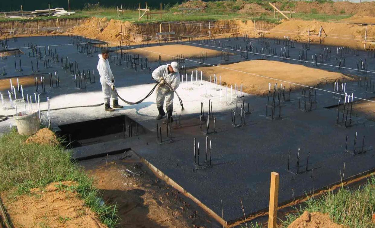 Горизонтальная гидроизоляция монолитной плиты